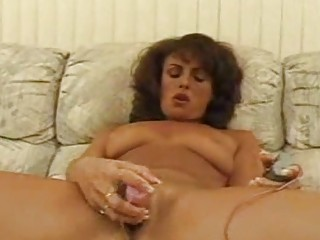 mature chick toying shaggy cum-hole