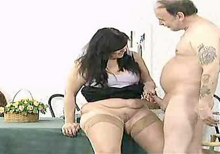 obese german lady fucked