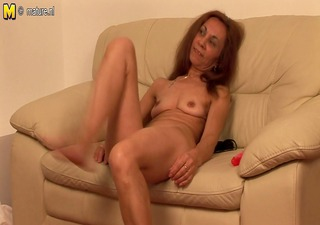 old european bitch grinding on the couch