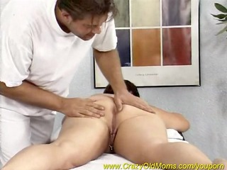 chubby mamma enjoys a massage