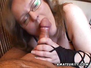 busty amateur wife tugjob and oral stimulation