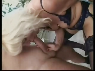 golden-haired german aged in nylons
