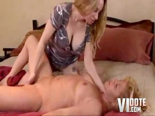 juvenile lesbo is eager to please older, lesbos