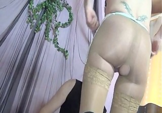 a hawt aged receives screwed in tan lace top