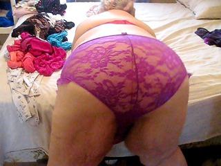 purple pants wonderful ass wigling