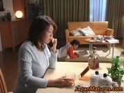lascivious japanese aged babes engulfing