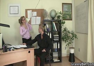 he is bangs horny office lady