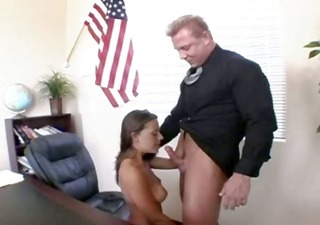 sexy breasty 35yo girl bang with director