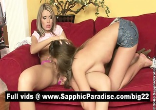 breathtaking redhead and blond lesbian babes
