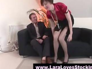stockings older lady in high heels
