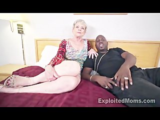 granny in creampie interracial clip