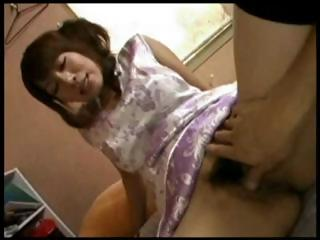 busty, hirsute japanese mother i receives cock to
