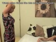 british mama wakes up her son and sucks his wang