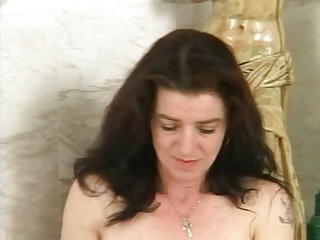 bushy mature with curly pussy