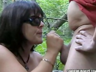 wife engulfing off truckers at the rest area