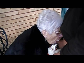 grany marge gets boy rod for her 111th birthday