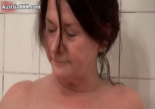 naughty old lesbian babes make out in the baths