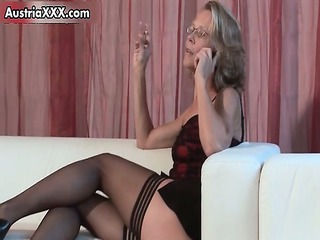 immodest aged wife in sexy nylons