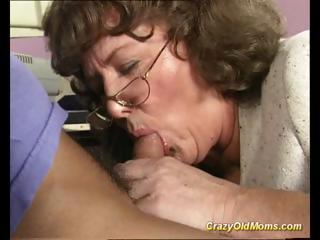 crazy old mamma receives large shlong