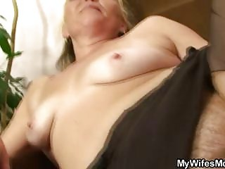 slutty granny opens unshaved cunt for sexy