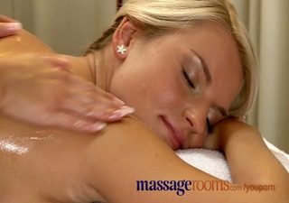 massage rooms busty older woman oiled by youthful