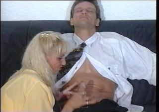 german girl pleasures this chap until he explodes