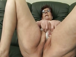 granny panty stuffing and sextoy play