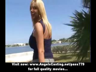 blond mother i sweet talking with lesbo
