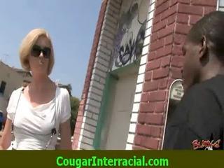 interracial sex - hot cougar milf receives fucked