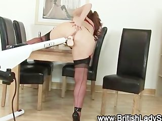 aged brit in nylons acquires off