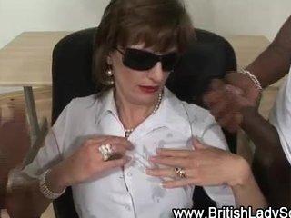 interracial older lady sonia receives cumshots