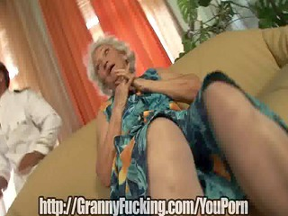 old grandma receives fucked for her birthday